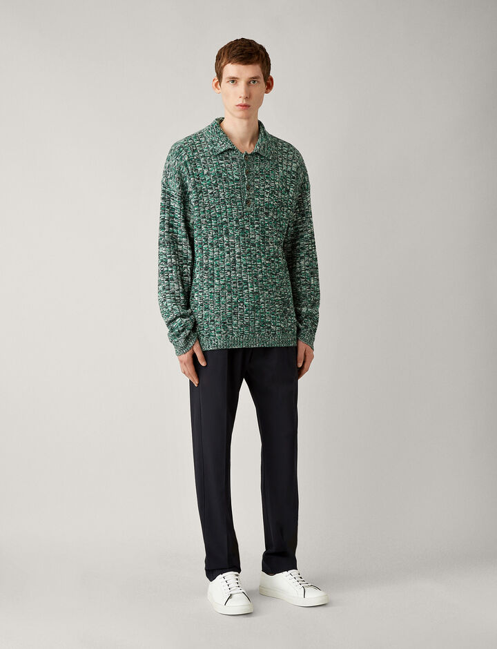 Joseph, Polo Nk Rib-Chunky Mouline, in GREEN COMBO