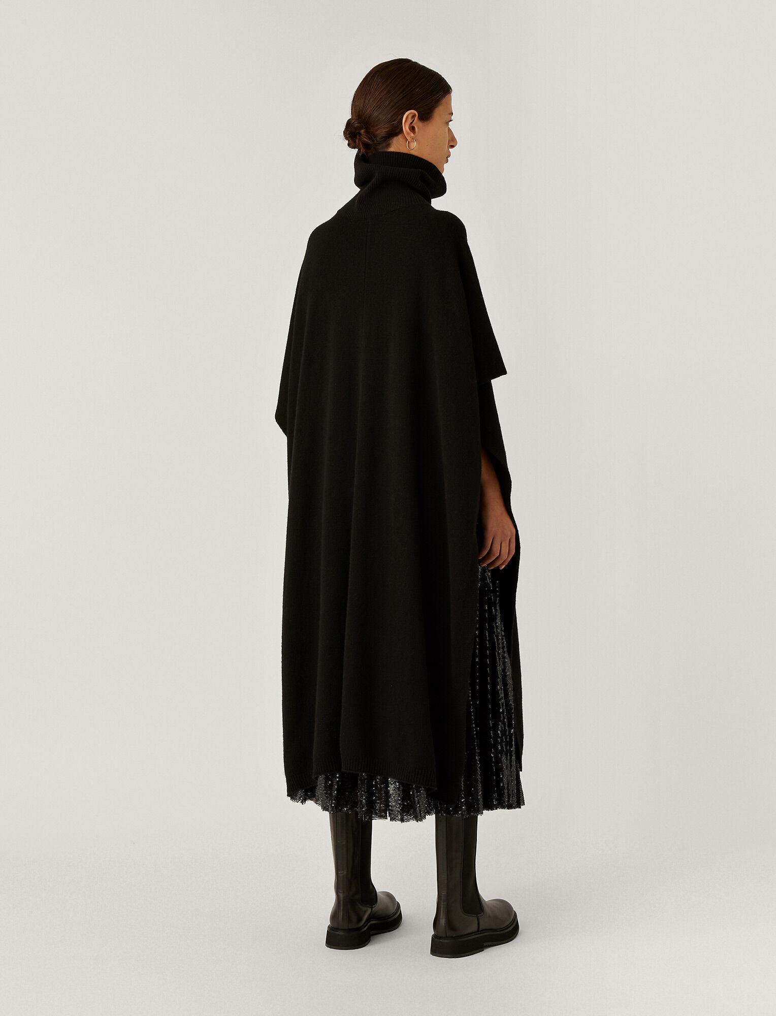 Joseph, Pure Cashmere Poncho, in BLACK