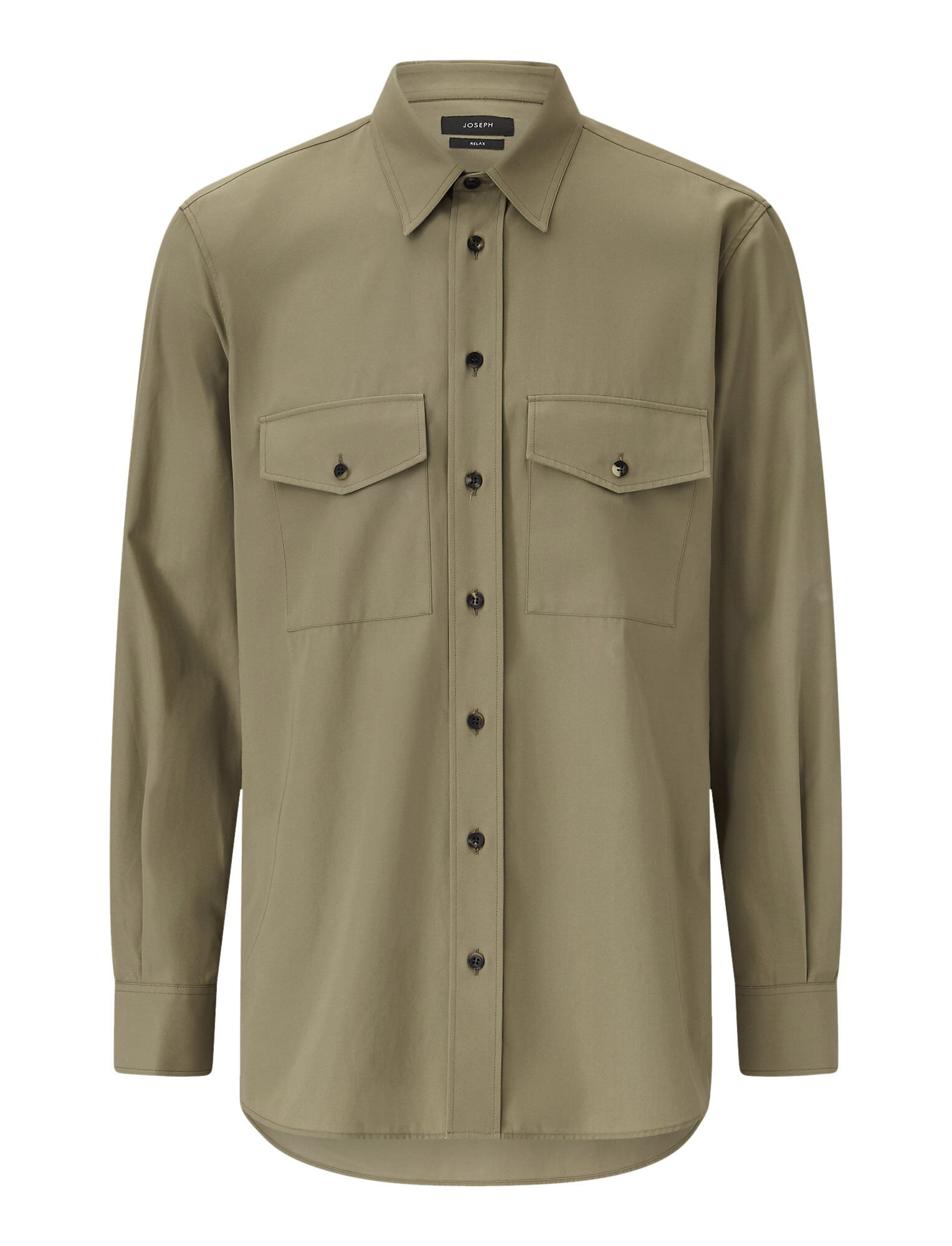 Joseph, Joseph Cotton Twill Shirt, in KHAKI