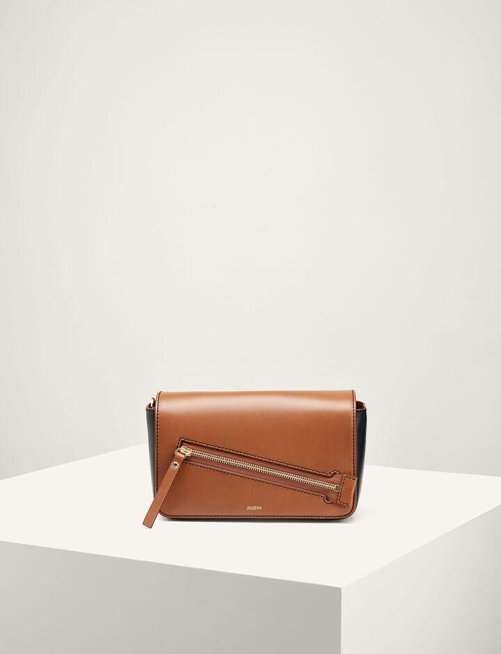 Joseph, Leather Warwick Bag, in SADDLE/BLACK