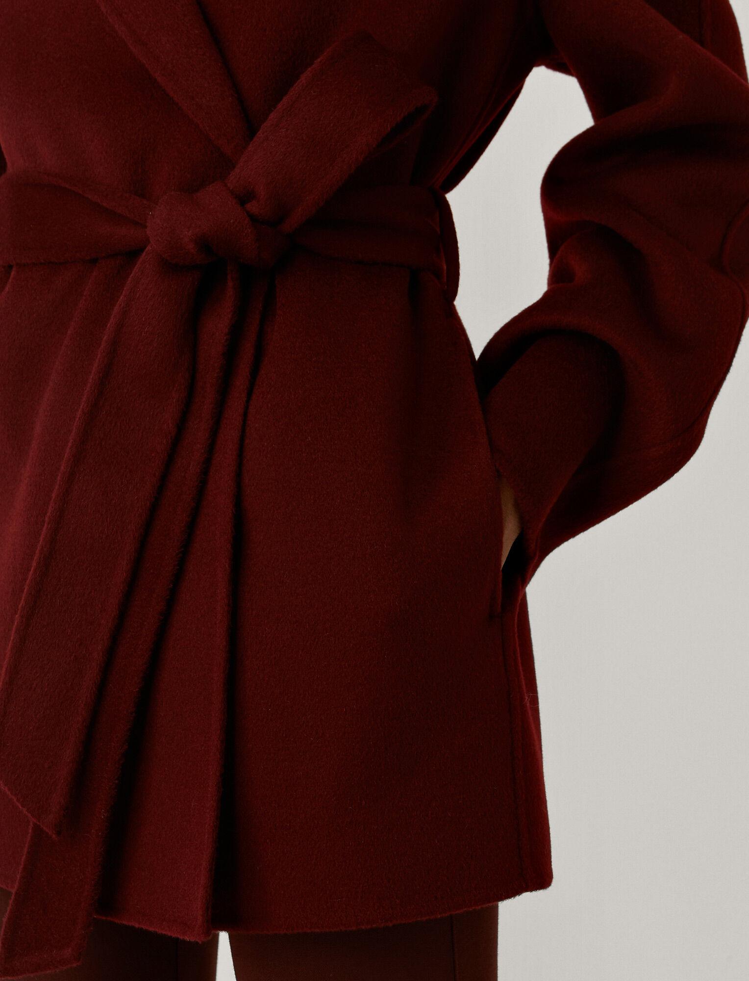 Joseph, Double Face Cashmere Cenda Coat, in BURGUNDY