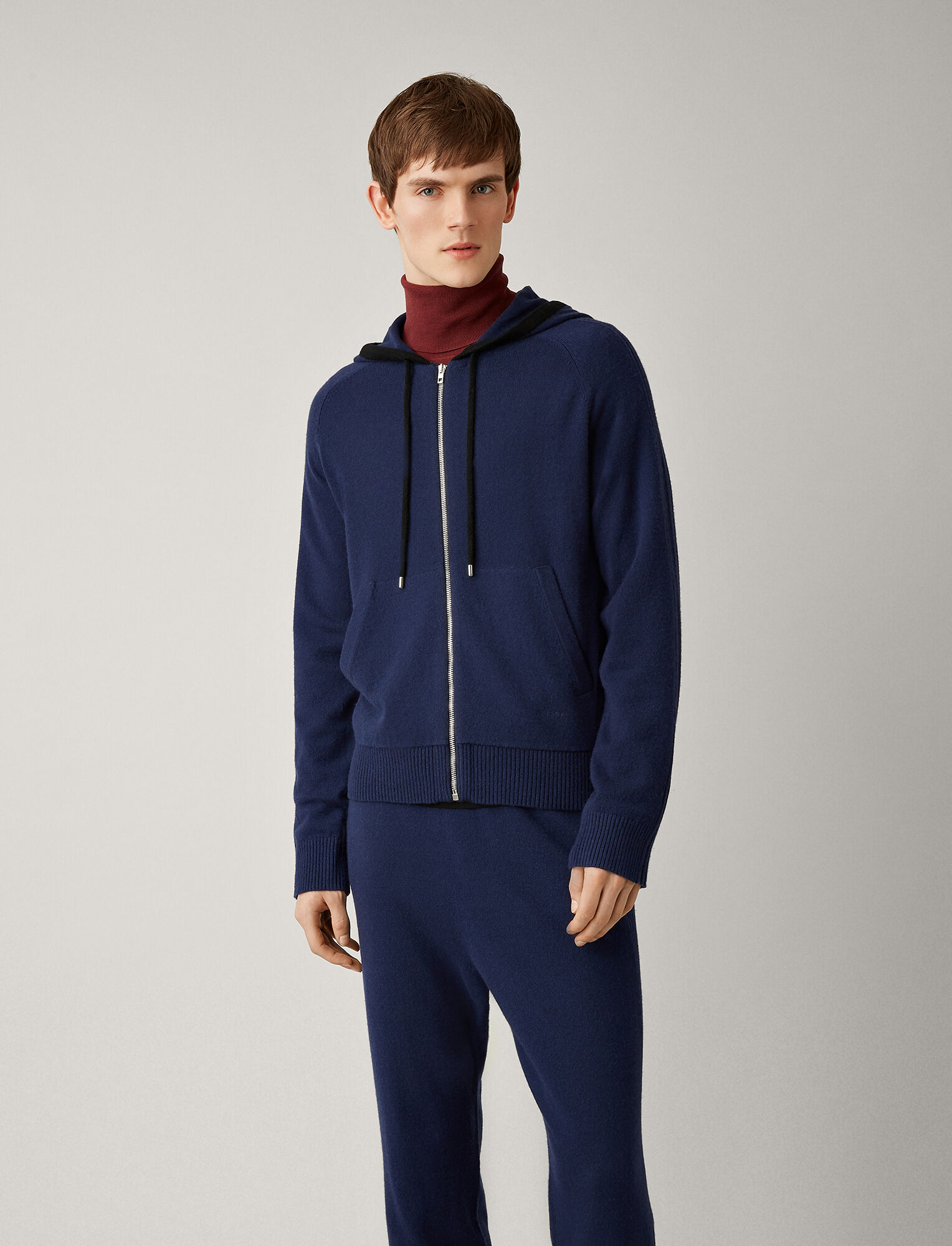 Joseph, Mongolian Cashmere Knit Hoody, in ROYAL BLUE