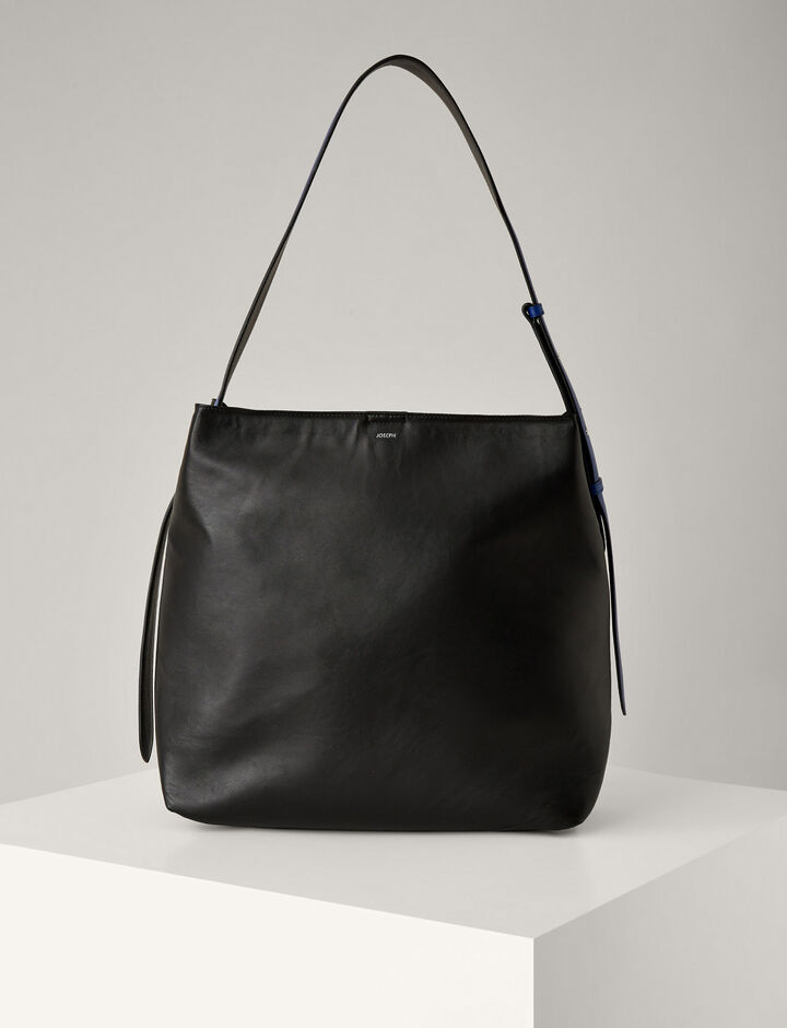 Joseph, Nappa Leather Pimlico Bag, in BLACK