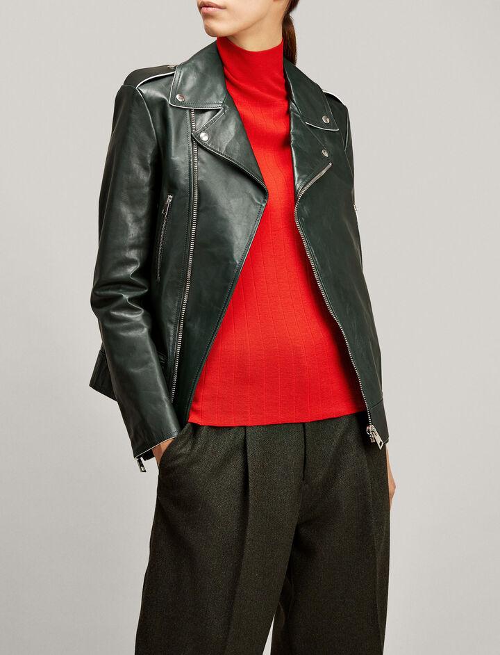 Joseph, Ryder Biker Leather Jacket, in BERMUDA