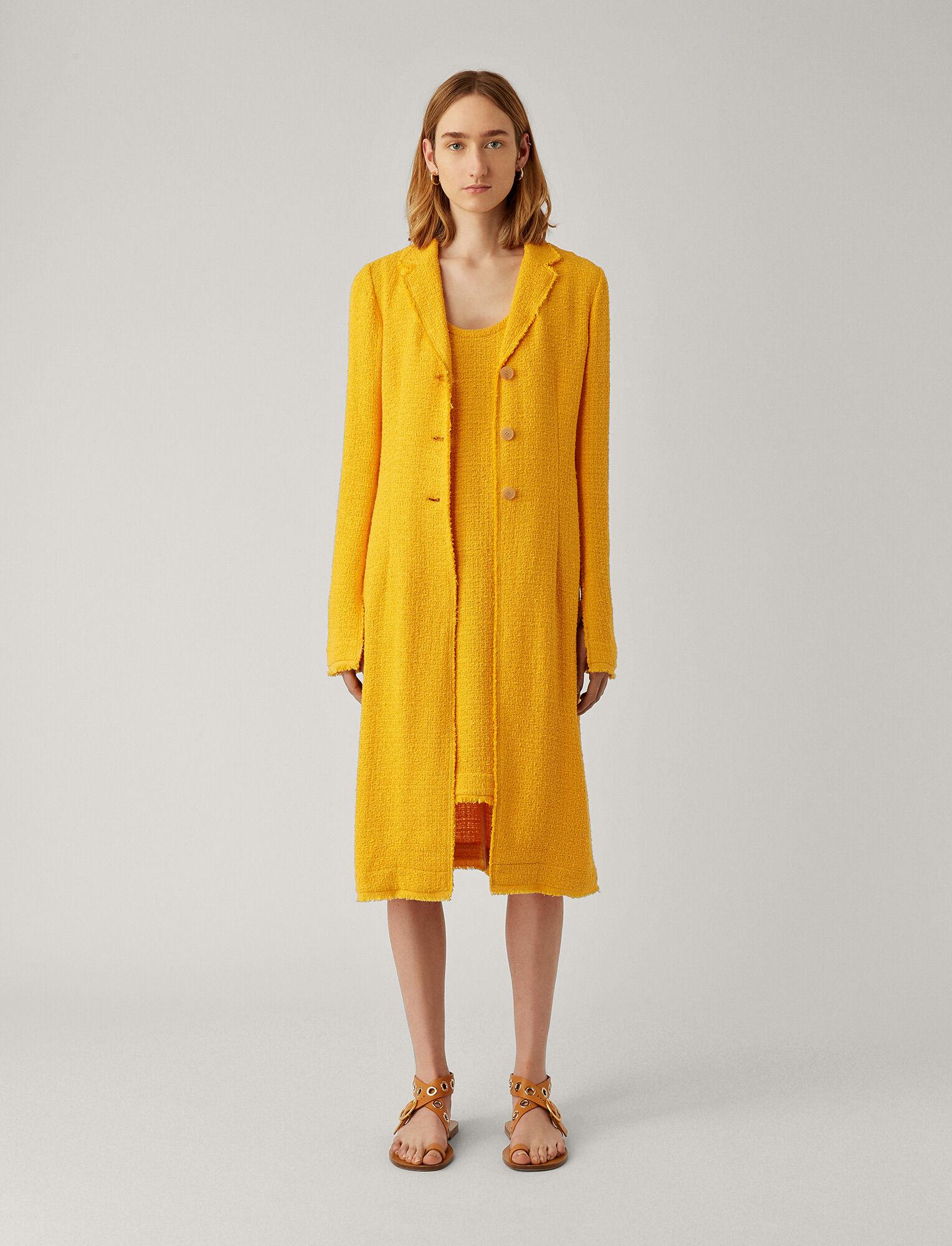 Joseph, Cierra Tweed Coat, in POLLEN