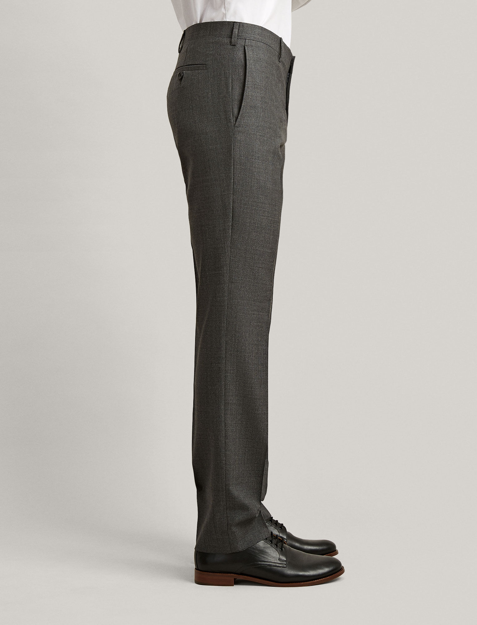Joseph, Pantalon de costume Darwin en laine tropicale, in GREY