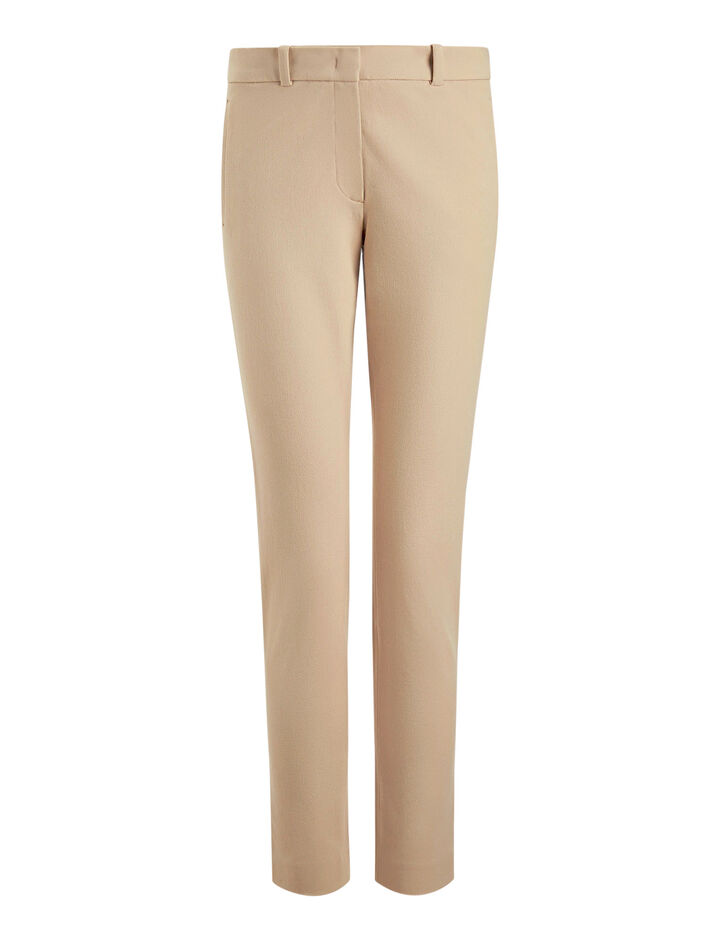 Joseph, New Eliston Gabardine Stretch Trousers, in PEBBLE