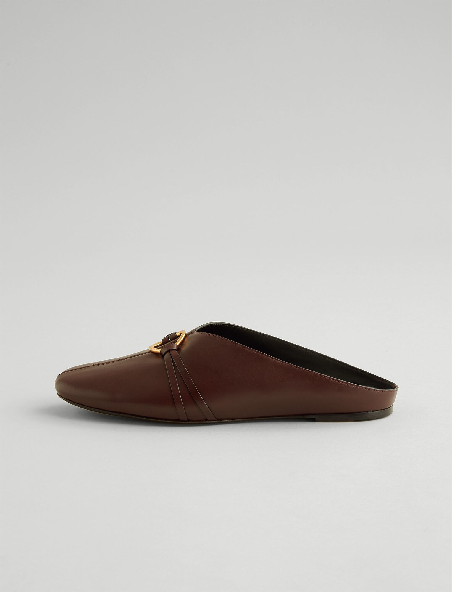 Joseph, Elsa Shearling Mule, in RAISIN