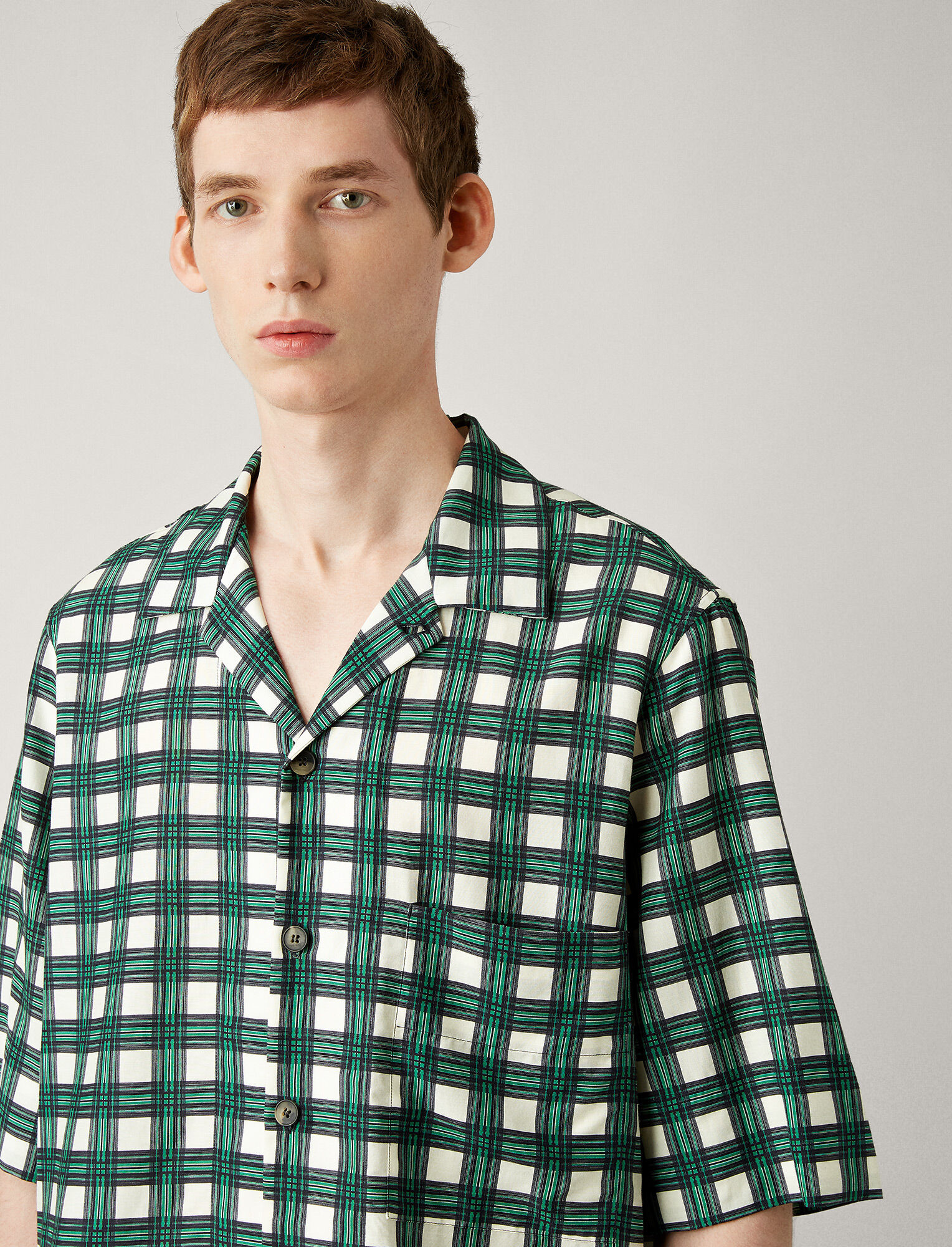 Joseph, Isaac Check Twill Shirt, in AMAZON