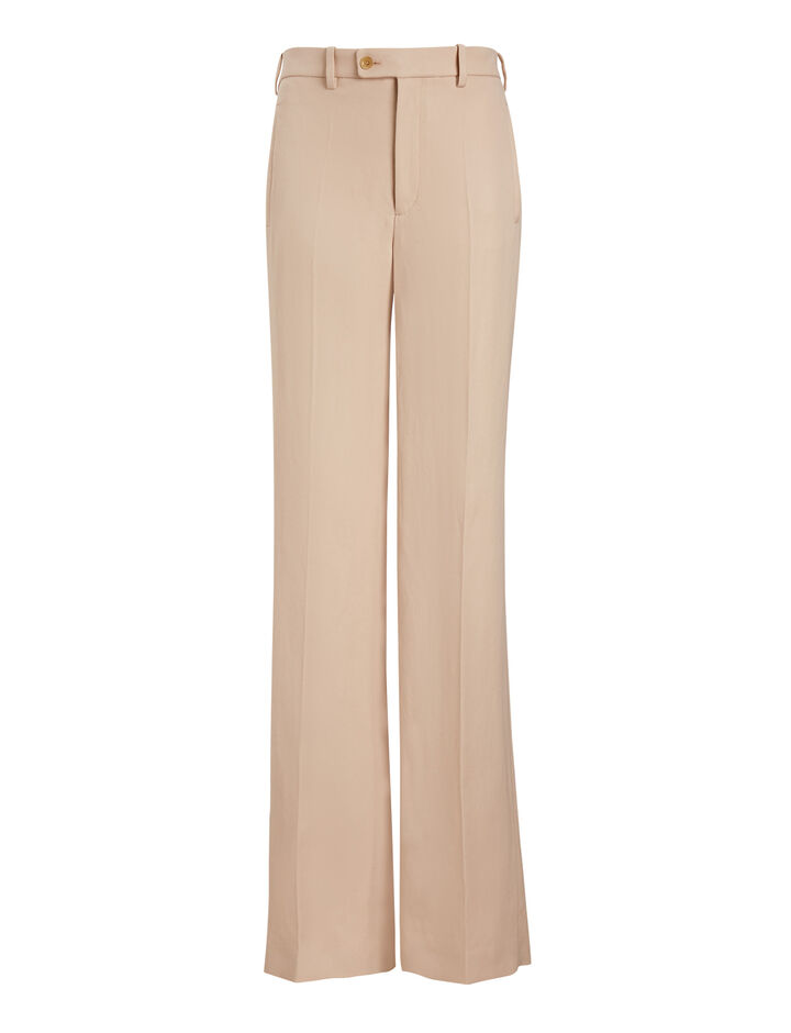 Joseph, Kosta Ramie Cotton Trousers, in PEARL