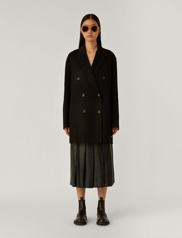 Joseph, Clavel Dbl Face Cashmere Coats, in Black
