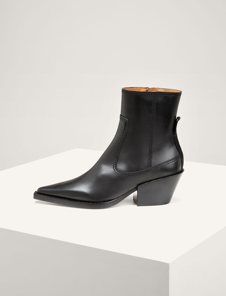 Joseph, The Rodeo Ankle Boot, in BLACK