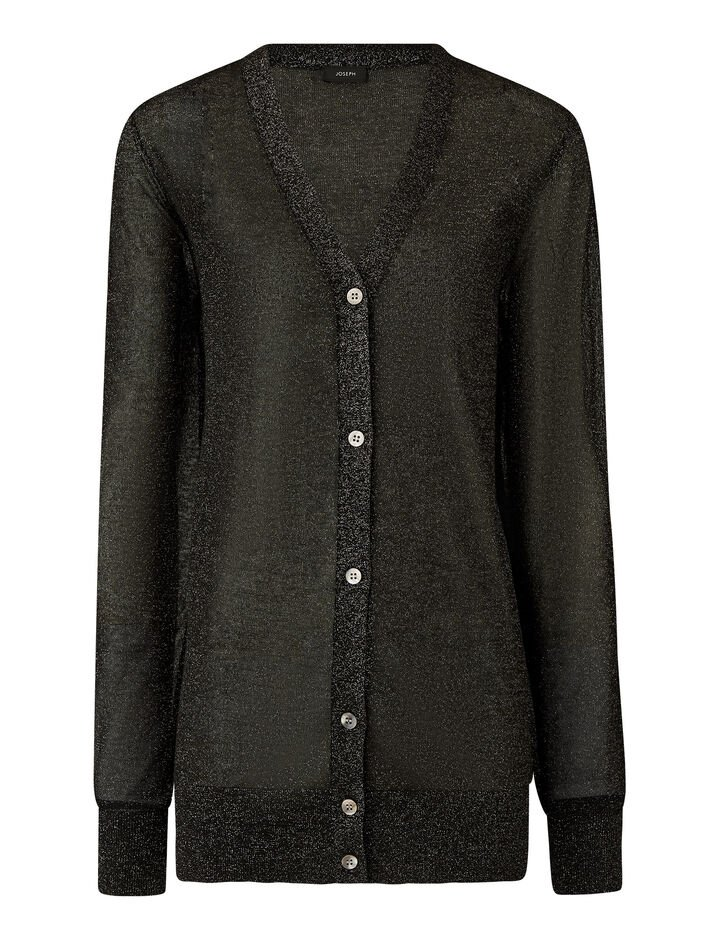 Joseph, Cardigan-Lurex, in BLACK