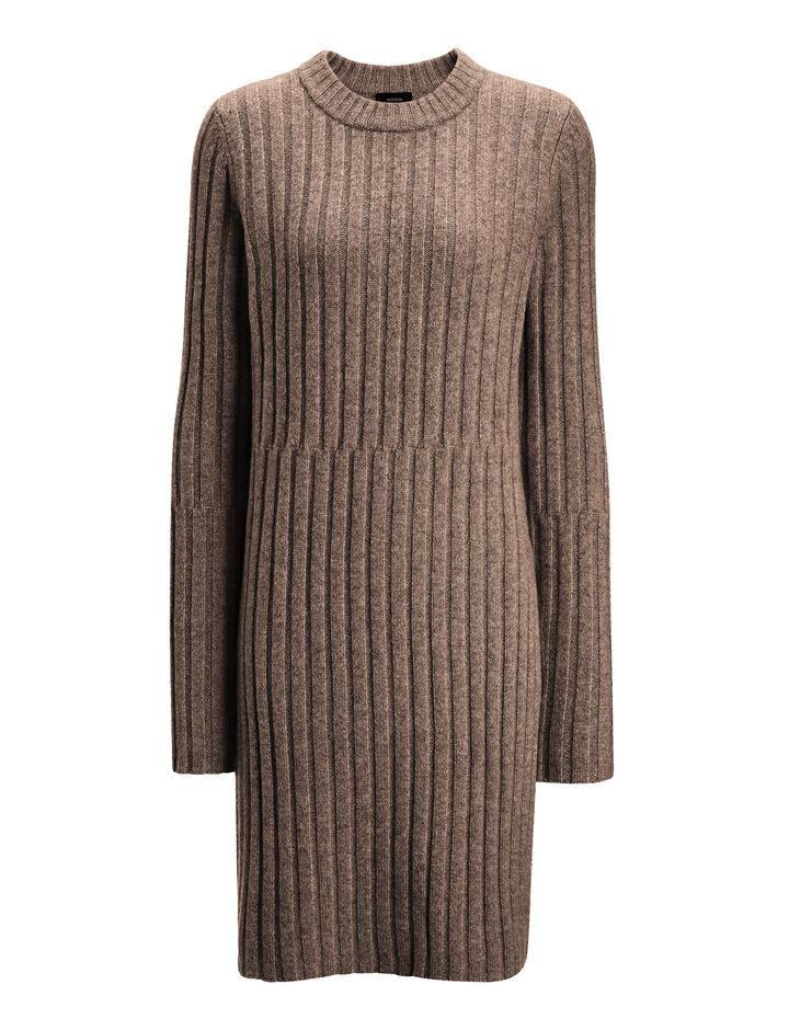 Joseph, Soft Wool Rib Tunic, in MILITARY