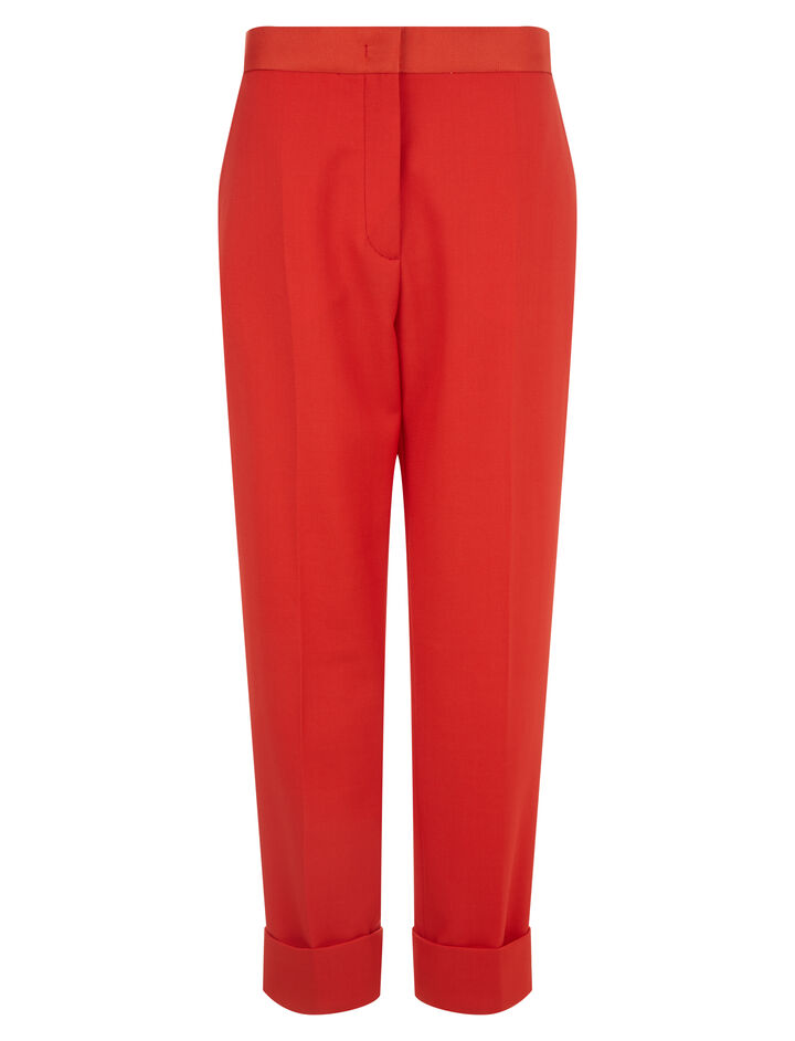 Joseph, New Zod Grain De Poudre Trousers, in TOMATO