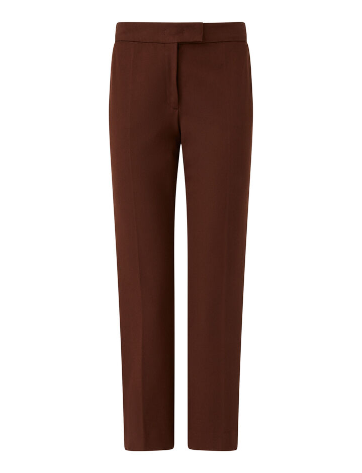 Joseph, Queen Gabardine Str Trousers, in Ganache