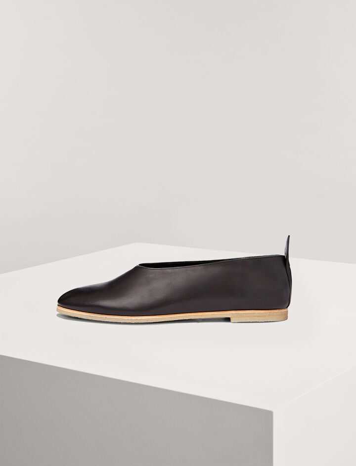 Joseph, Ballerines Cuir de Veau, in BLACK