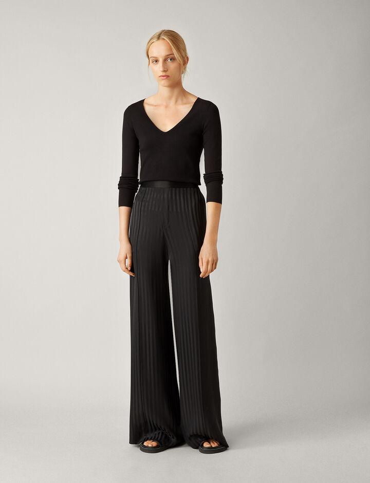 Joseph, Mawn-Pyjama Silk Jacquard, in BLACK