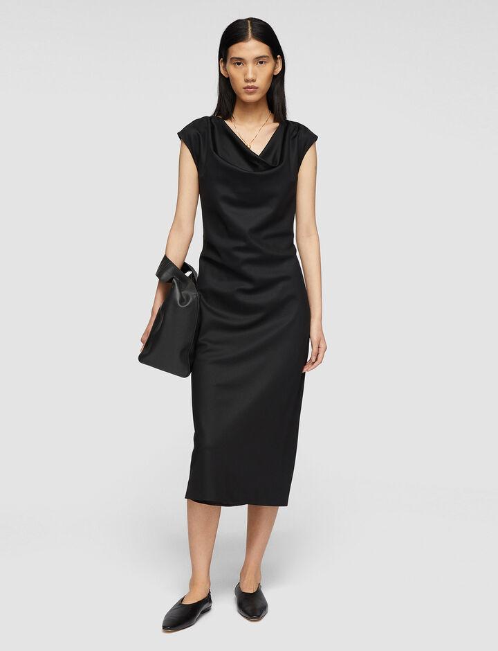 Joseph, Tailoring Wool Dacia Dress, in BLACK