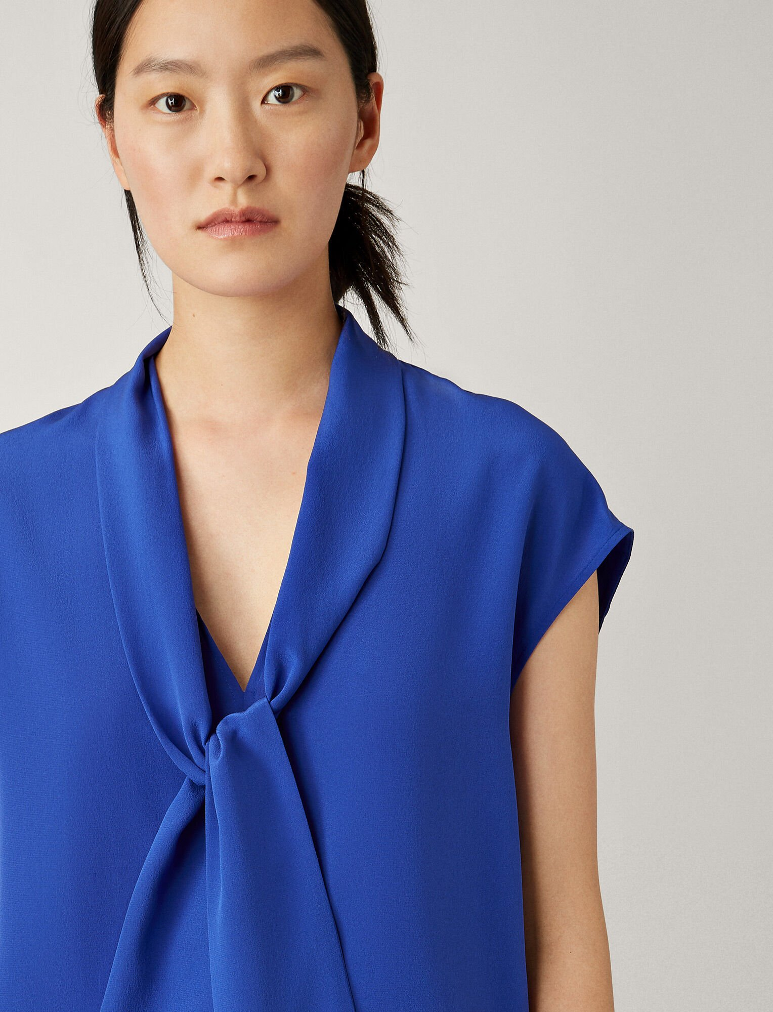 Joseph, Nancy Crepe De Chine Blouse, in KLEIN