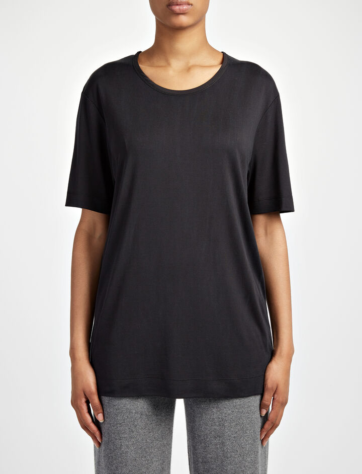 Joseph, Silk Jersey Top, in BLACK
