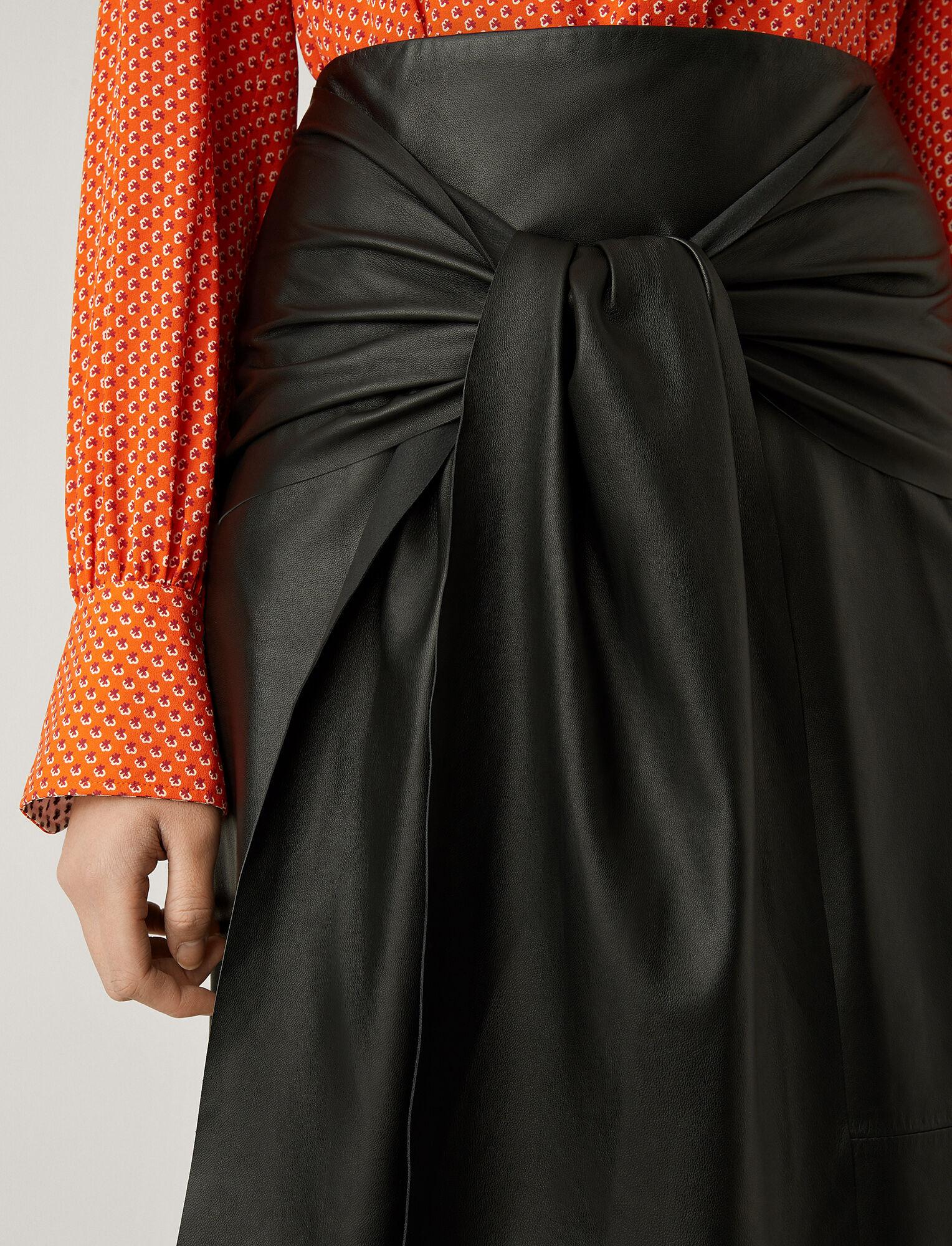 Joseph, Renne Leather Skirt, in BLACK