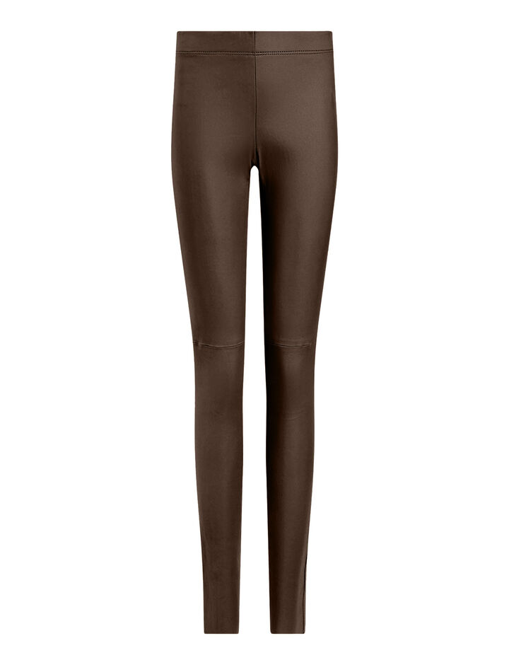 Joseph, Legging Leather Stretch Trousers, in Plum