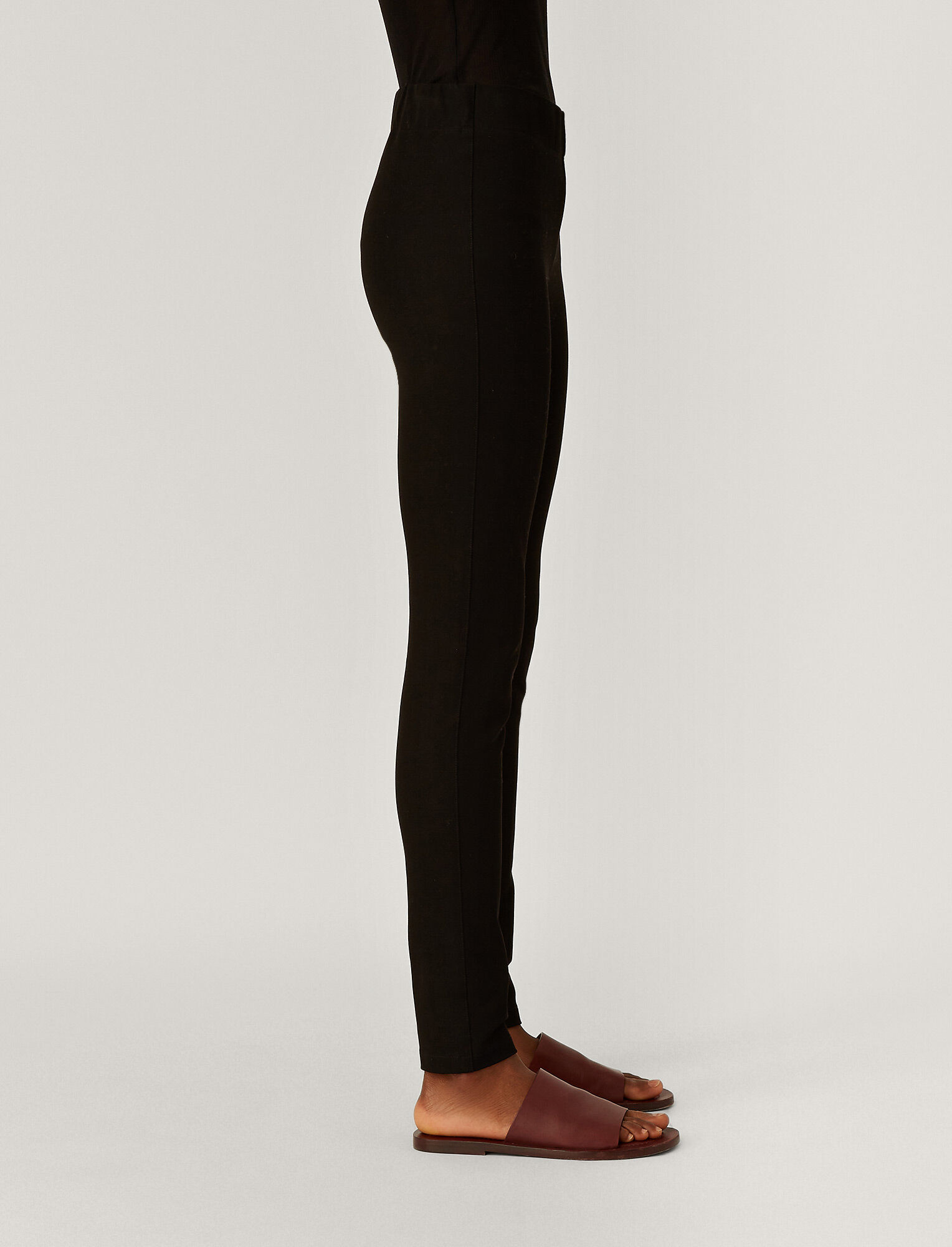 Joseph, Gabardine Stretch Legging, in BLACK