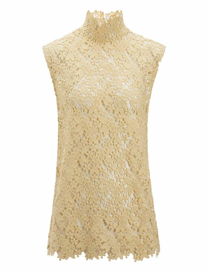 Joseph, Court Crochet Lace Blouse, in BUTTER