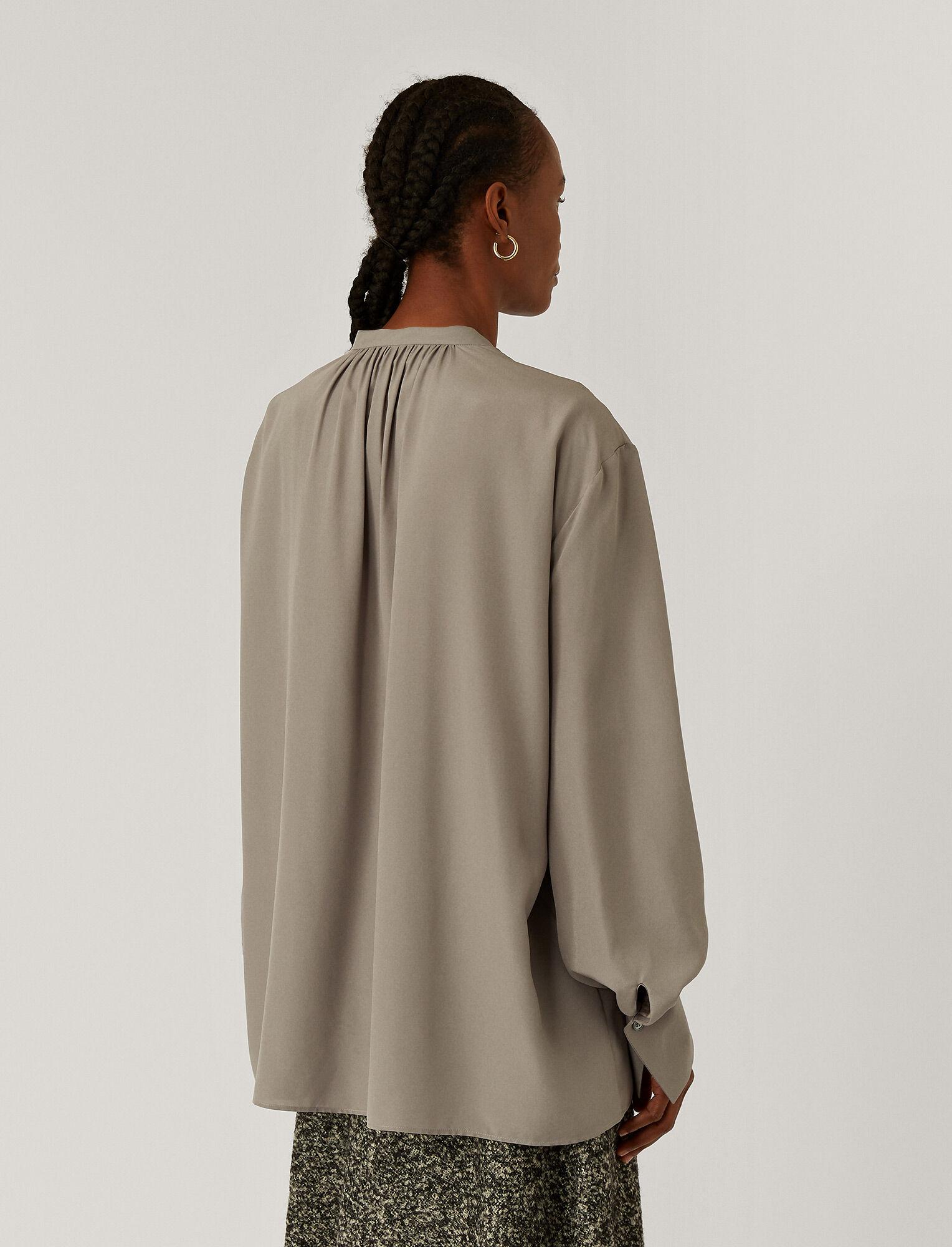 Joseph, Blanca Light Silk Blouse, in Ash
