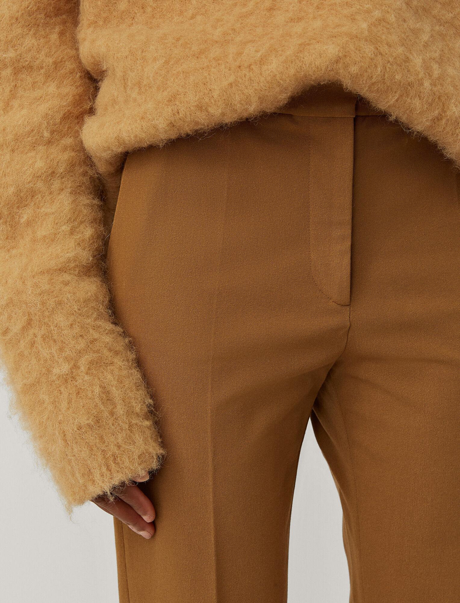 Joseph, Gabardine Stretch Coleman Trousers, in SADDLE