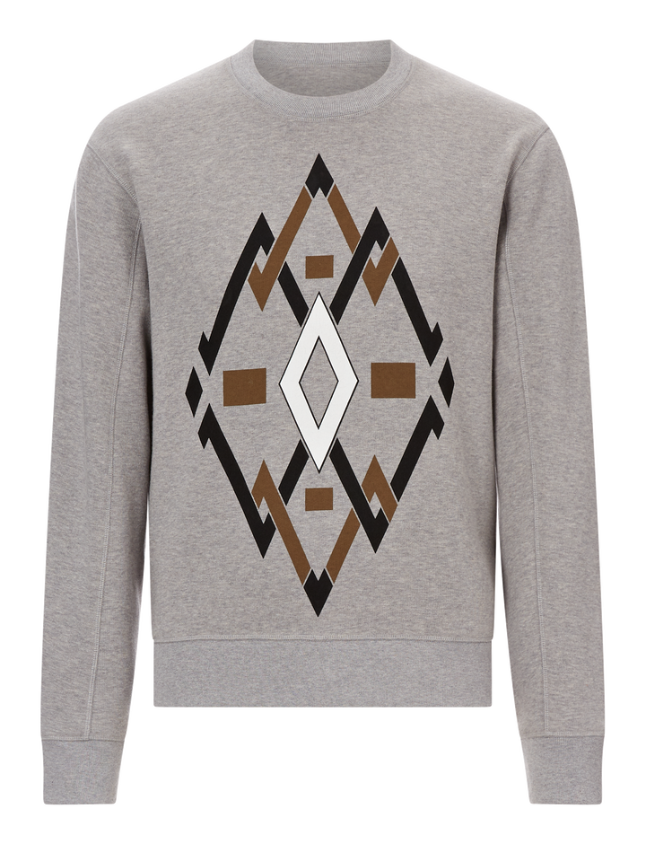 Joseph, Diamond Sweat Printed Molleton Jersey, in GREY CHINE