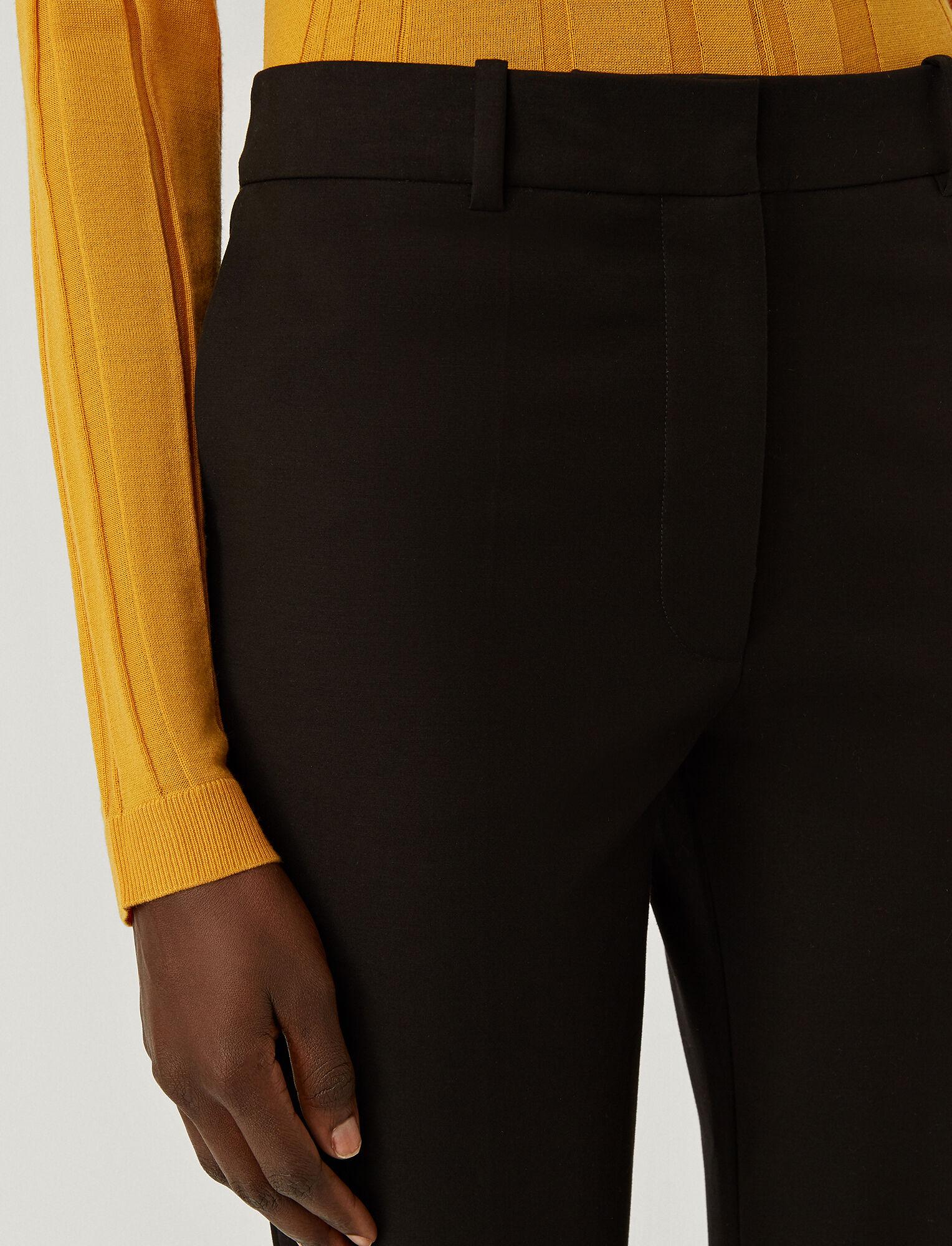 Joseph, Bi-Stretch Toile Teller Trousers, in BLACK