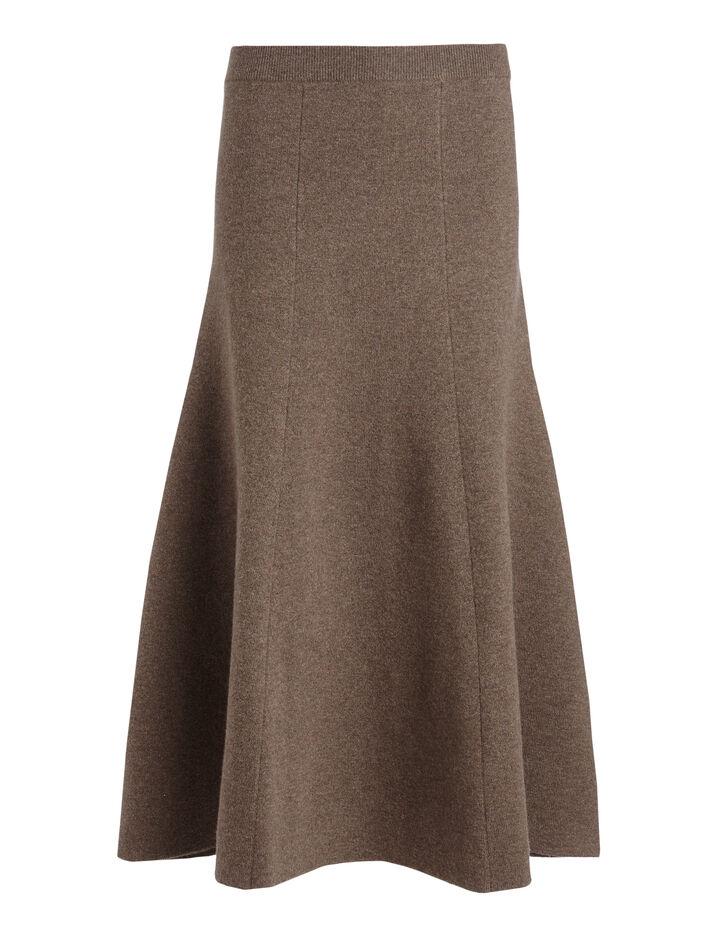 Joseph, Soft Wool Skirt, in MILITARY