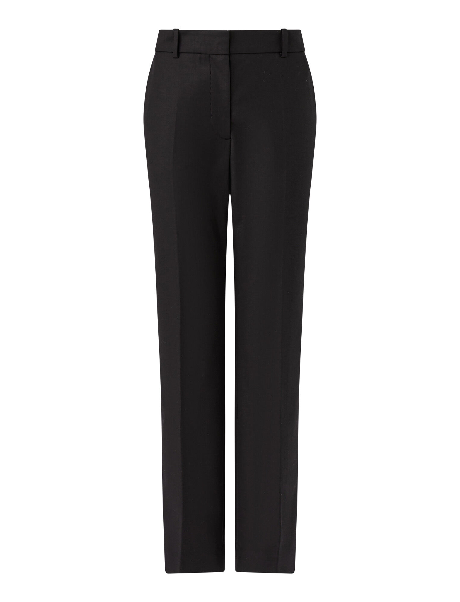 Joseph, Coleman Double Cotton Stretch Trousers, in BLACK