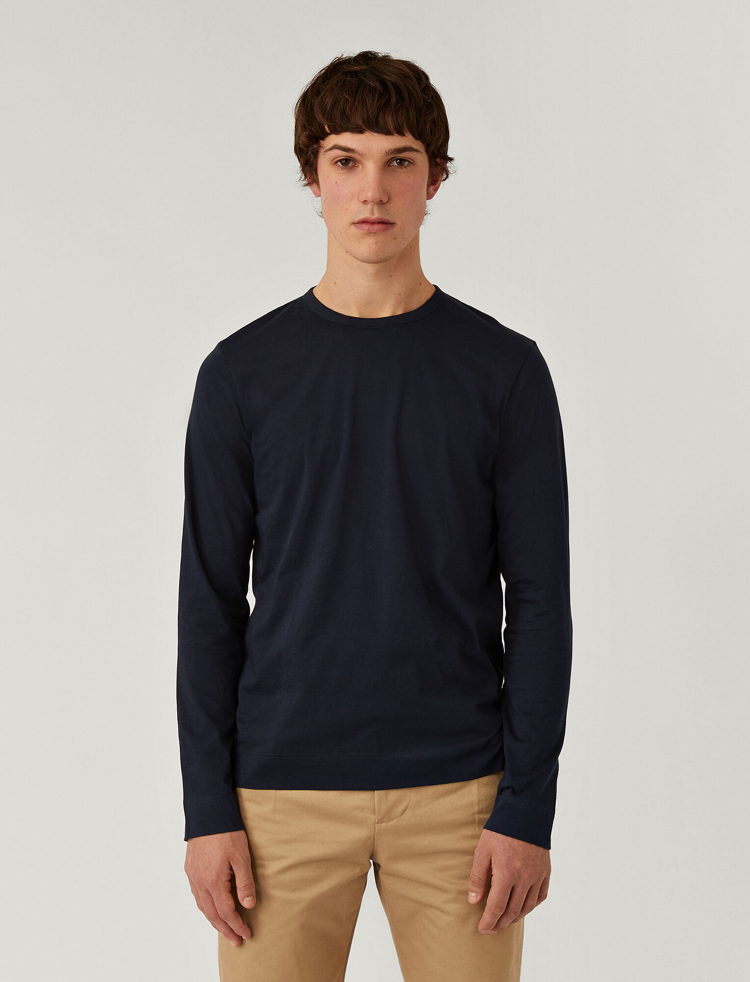 Joseph, Mercerised Jersey Top, in NAVY