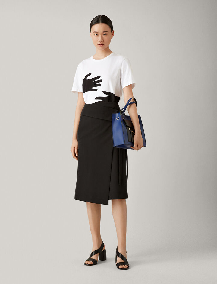 Joseph, Hands Patchwork Jersey Tee, in MULTICOLOUR