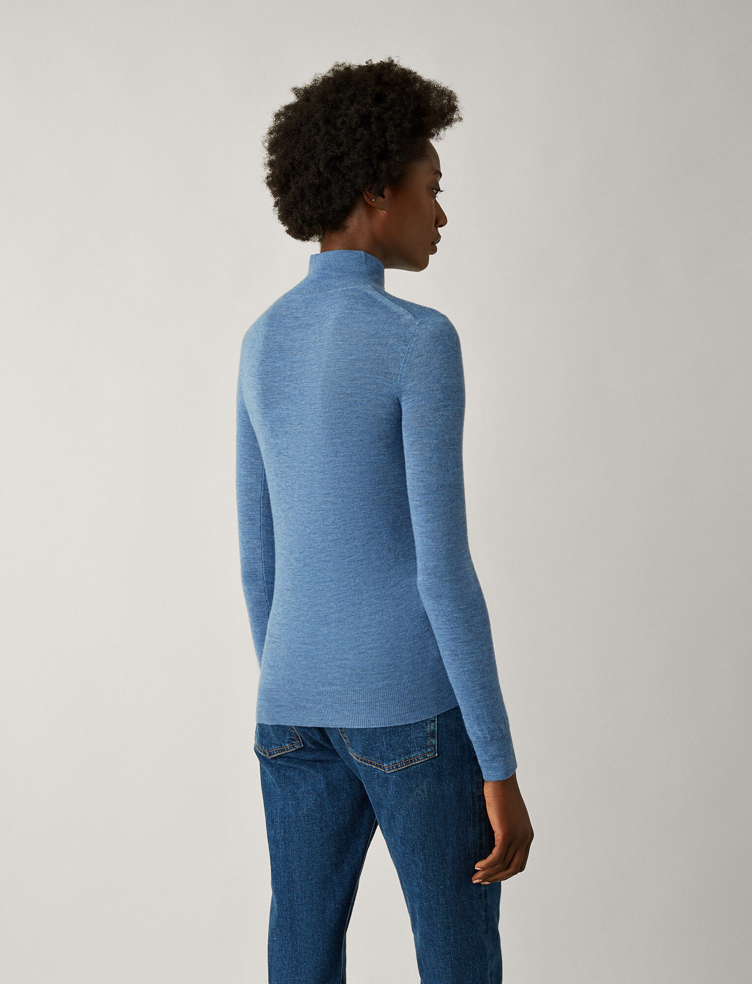 Joseph, High Neck Cashair Knit, in ENCRE