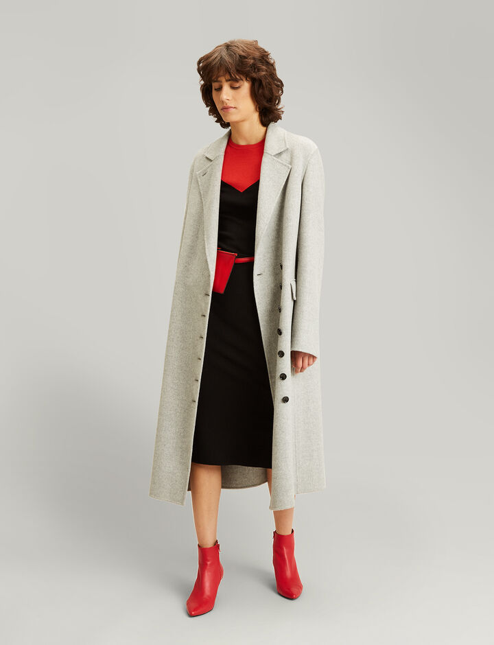 Joseph, New Signe Feather Double Cashmere Coat, in GREY