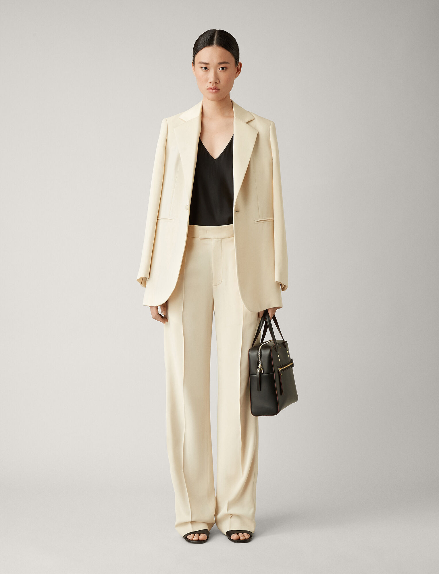 Joseph, Ferry Fluid Tuxedo Trousers, in SAND