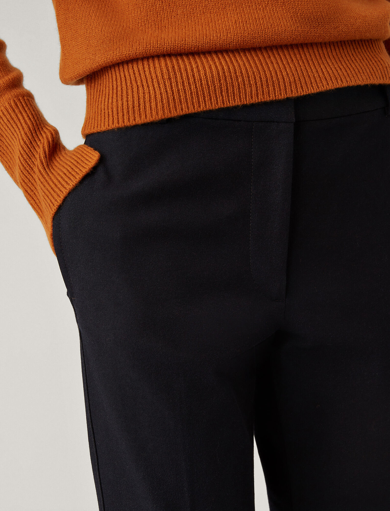 Joseph, Zoom Gabardine Stretch Trousers, in NAVY