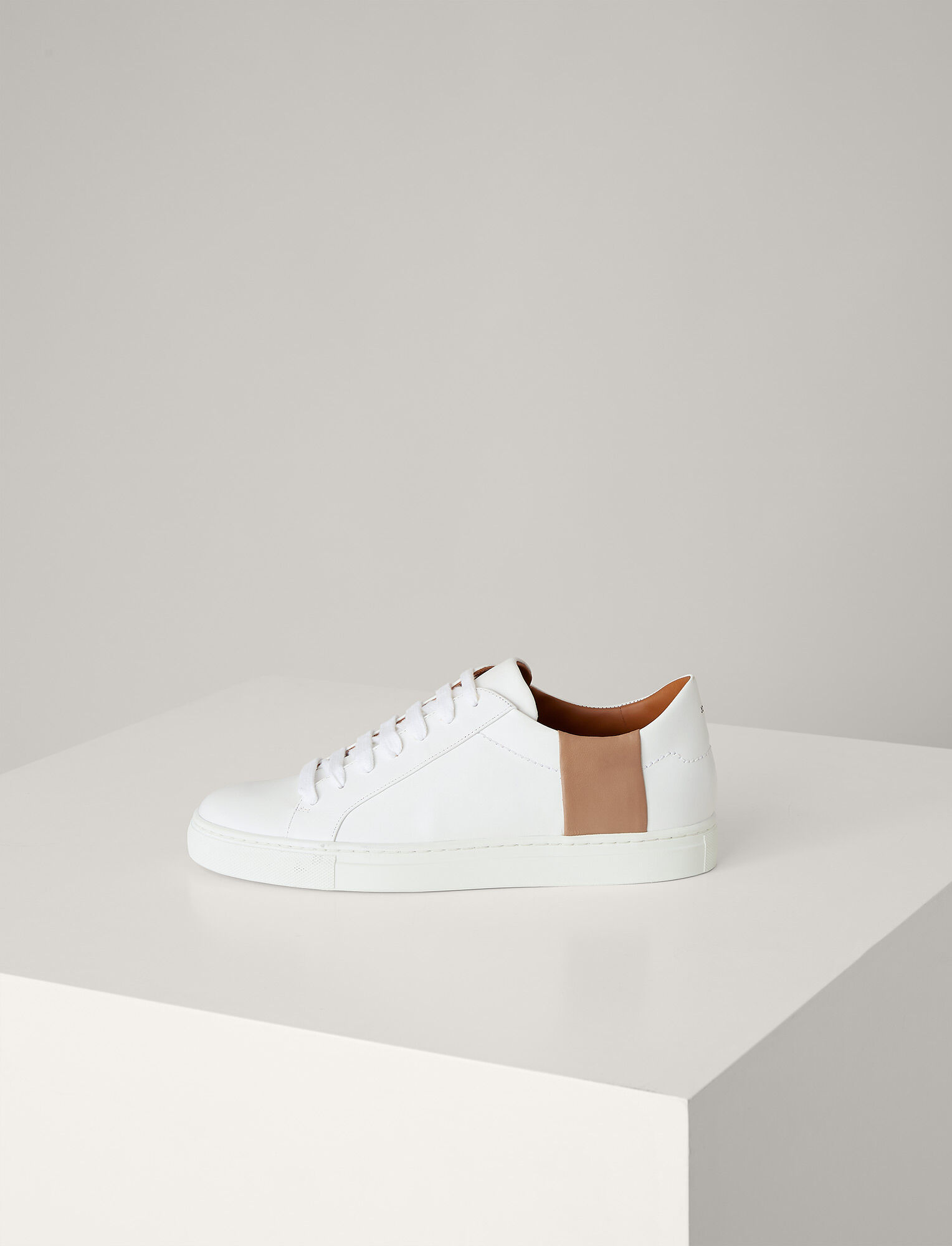 Joseph, Harry Leather Sneaker, in ECRU