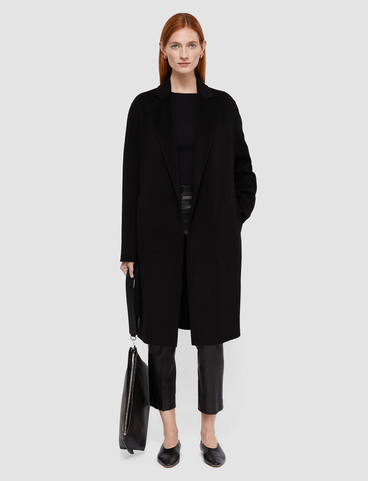Joseph, Cenda Long Dbl Face Cashmere Coats, in Black
