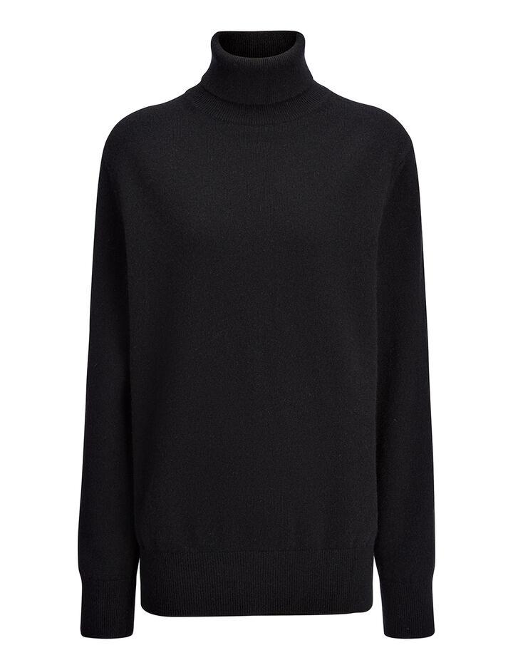 Joseph, Cashmere 12gg Roll Neck Sweater, in BLACK