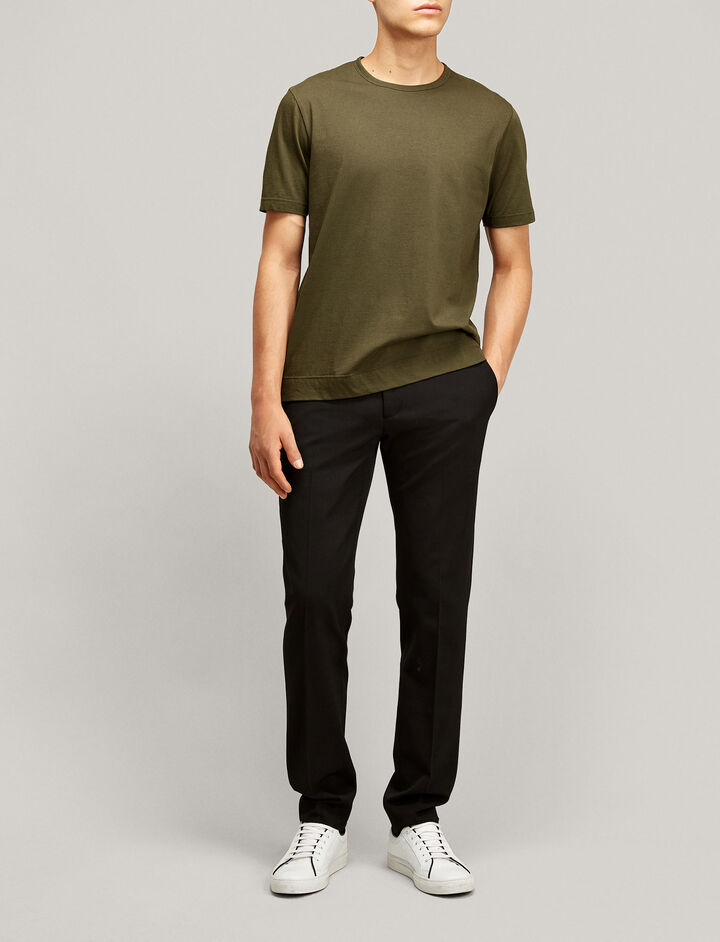 Joseph, Mercerized Jersey Tee, in MILITARY