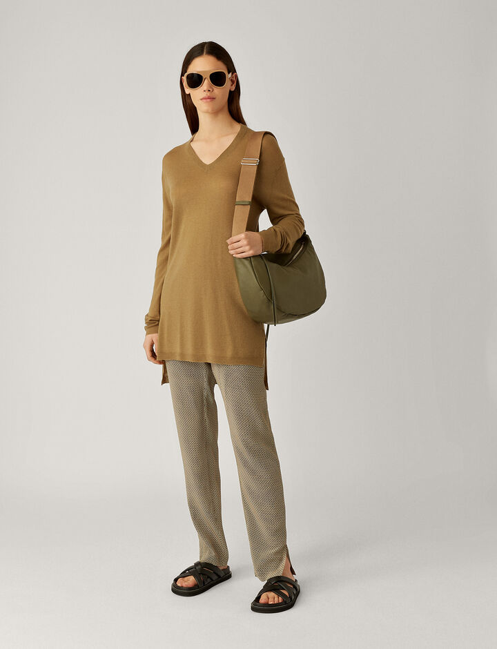 Joseph, V Nk Tunic-Cashair, in KHAKI