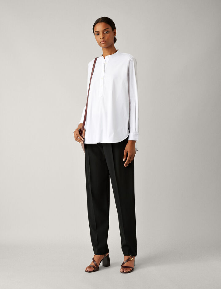 Joseph, Luke Poplin Stretch Blouse, in WHITE