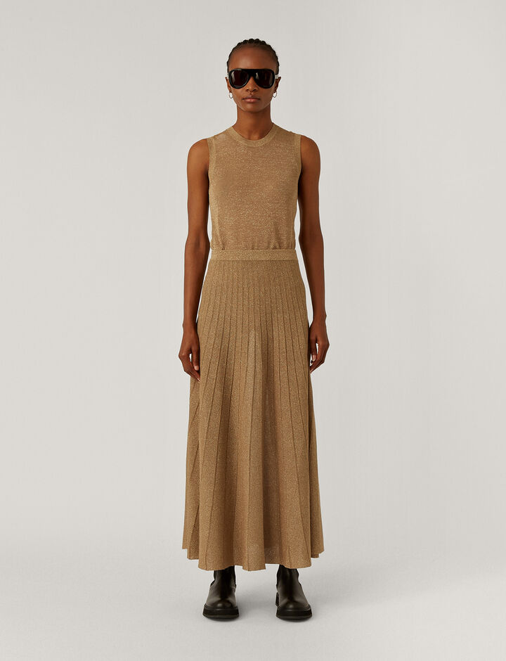 Joseph, Skirt-Lurex, in CHAMPAGNE