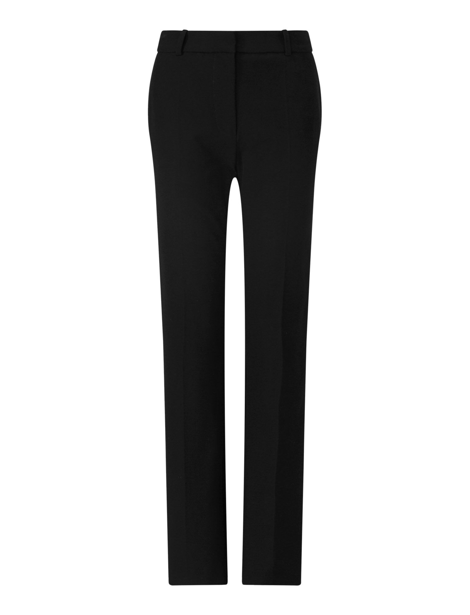 Joseph, Coleman Gabardine Stretch Trousers, in BLACK