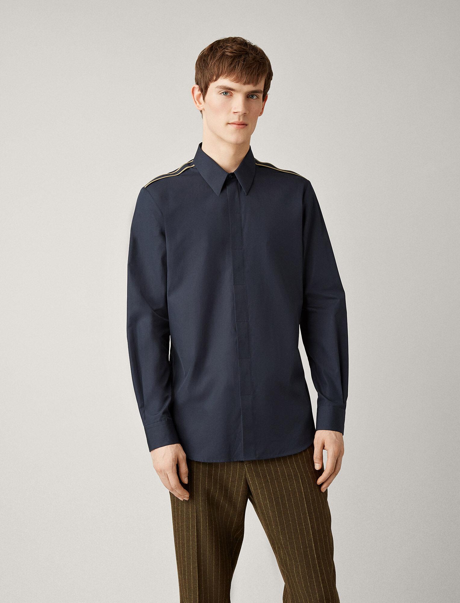 Joseph, James Poplin Shirt, in NAVY